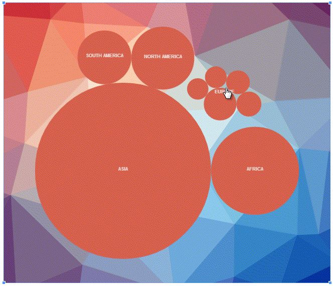 Interactive Bubble Chart created by datamaticio Created by - bubble chart