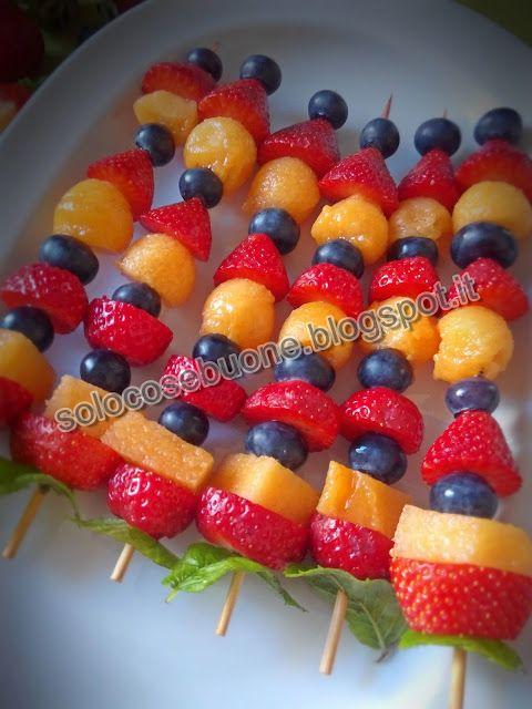 Ricette SoloCoseBuone  : Spiedini di frutta