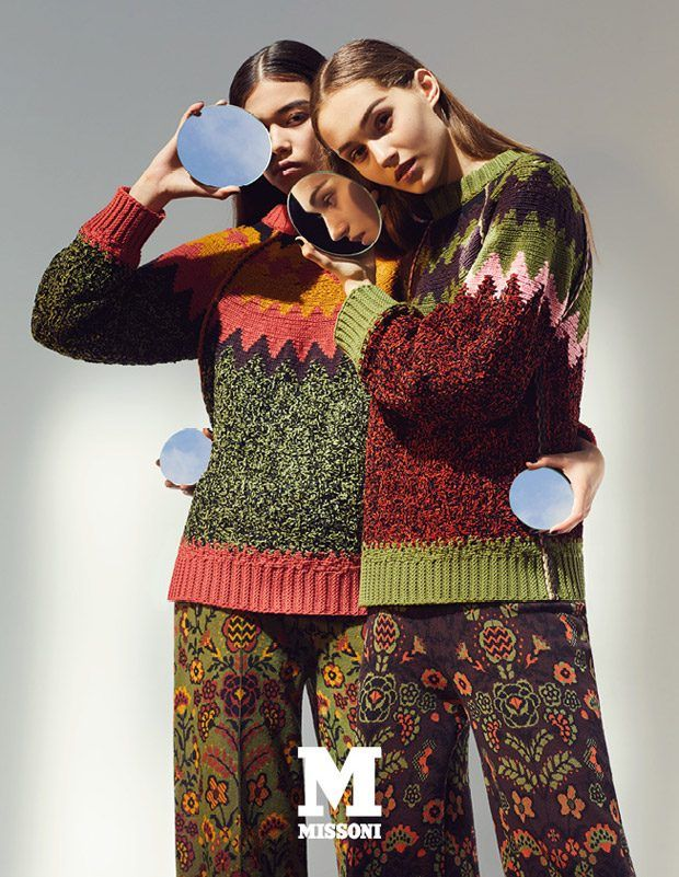 Melissa Anderson and Michelle Gutknecht Model M Missoni FW17 Collection