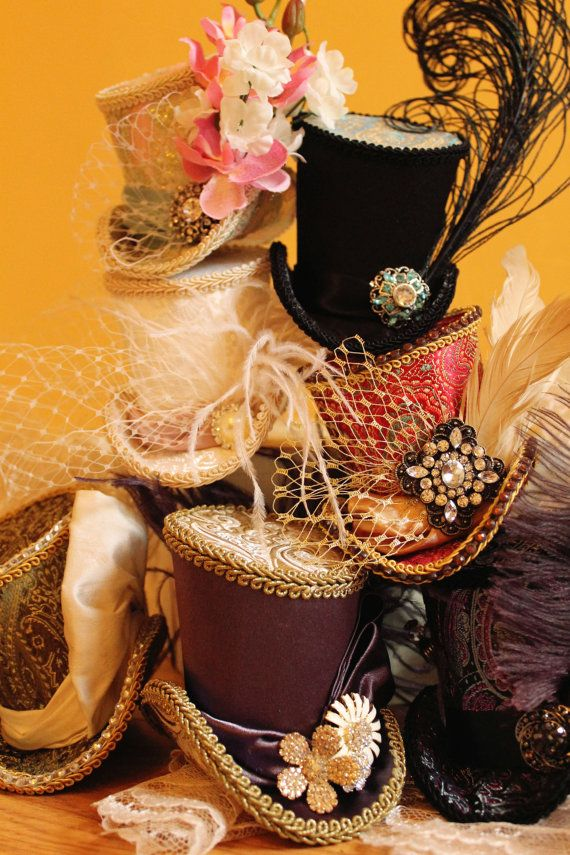 Springtime Top Hat  Womens Wedding Floral  Tea by divinehatdesigns, $65.00