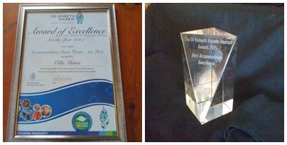 2015 First Prize for Best Accommodation (Guest House) and received the Dr Kenneth Kaunda Award!!