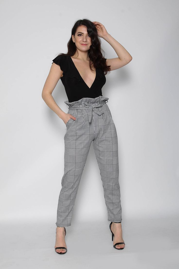 Wholesale Clothing UK, Online Fashion Wholesaler  Manchester & USA - Check Paperbag Trousers