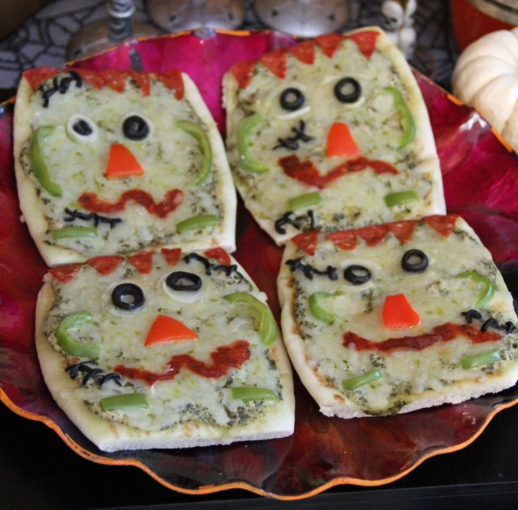 what to serve for halloween dinner how about frankenstein pizzas click through to check out more savory halloween recipes - Halloween Savory Recipes