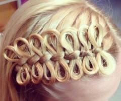omg how?: Hair Ideas, Hairstyles, Girl, Hair Styles, Makeup, Braids, Bow Braid, Bows, Beauty