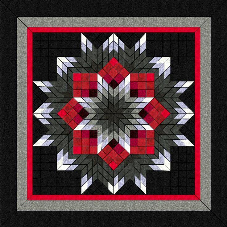 Lone Star Quilt Pattern Fragmented Broken Star Ii 54 X54