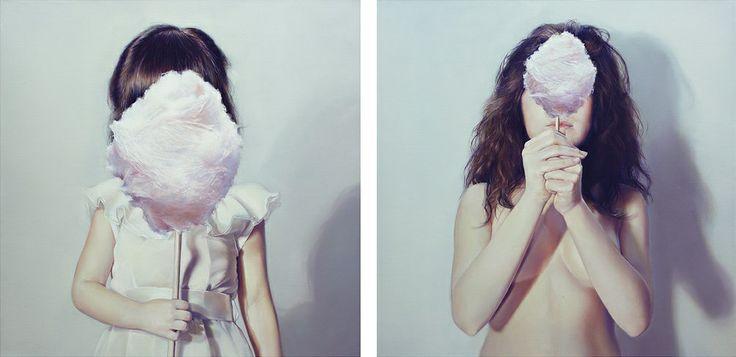Elisa Anfuso - Time-out Olio e pastelli su tela, cm 50x100, 2013