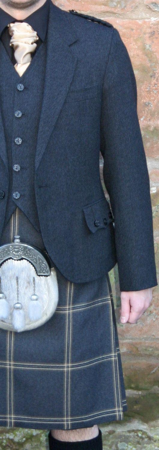 Eternity tartan with grey arrochar Argyll jacket & vest