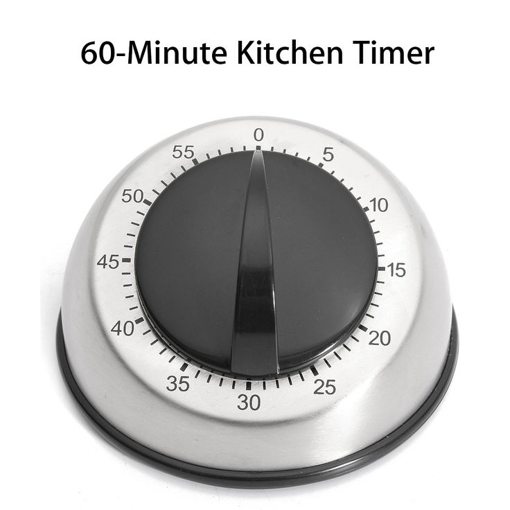 Wind Up  60-Minutes Stainless Steel Kitchen Timer Dome Shape Countdown Mechanical Alarm Clock Home Kitchen Cooking Tool Supplies
