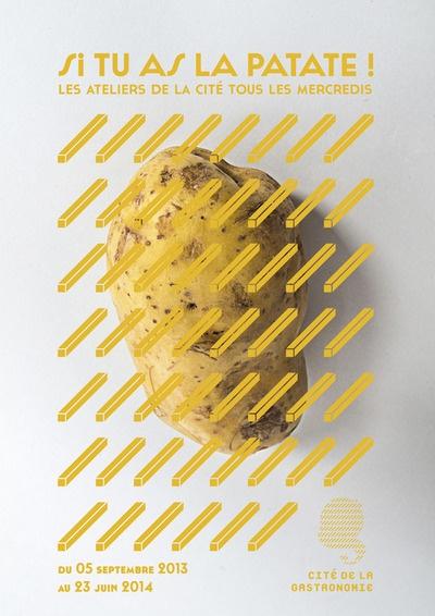 Campagne d'affiches pour l'ouverture de la Cité de la Gastronomie.  BTS design graphique 2e année Duperré - Jules Tirilly (France)