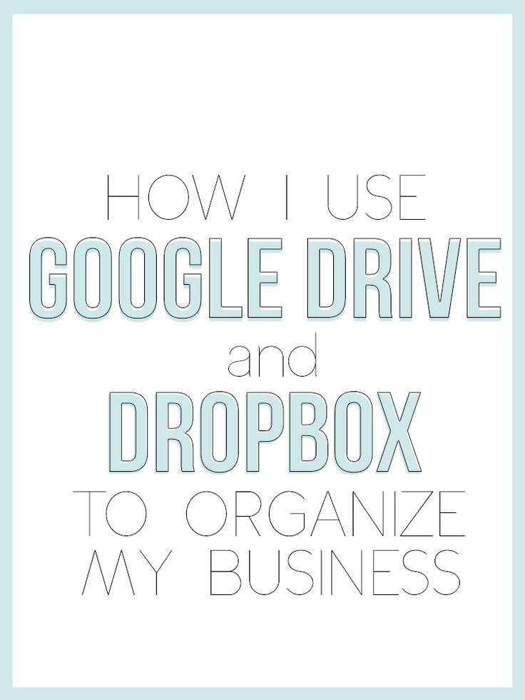 How to use Google Drive and Dropbox to organize your business