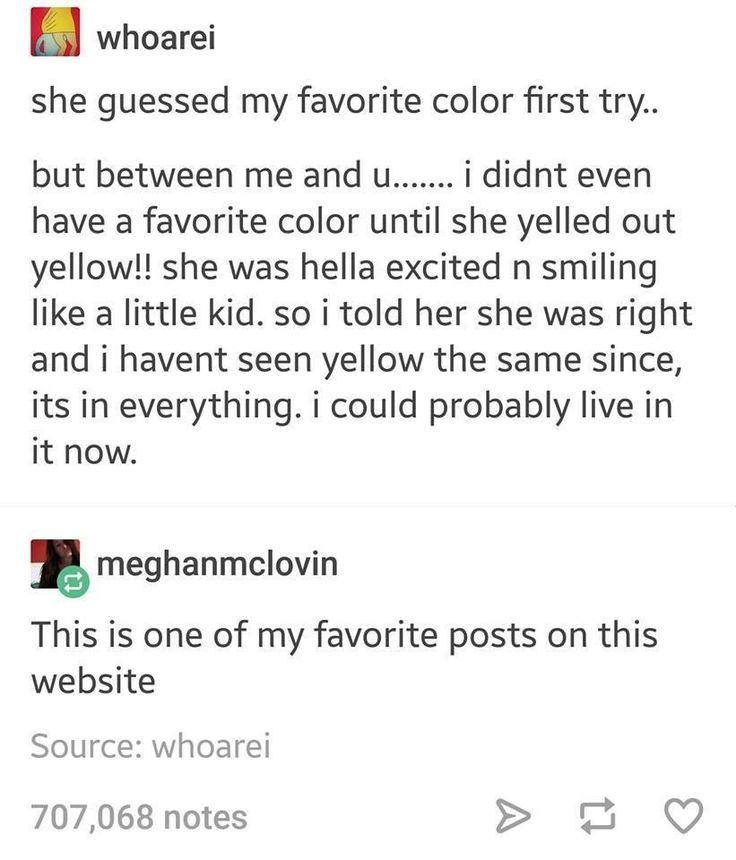 Tumblr and yellow