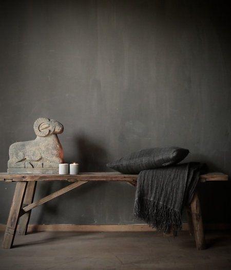 Bank/Salontafel gemaakt van oud hout