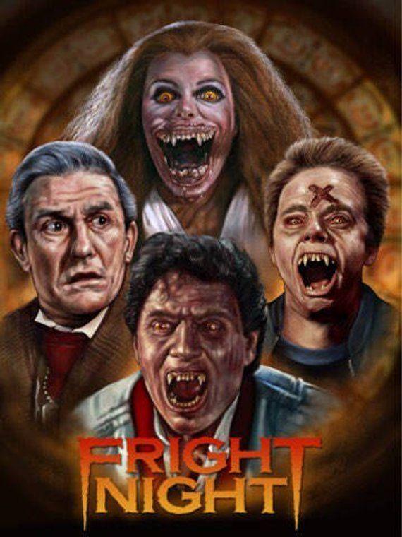 Fright Night 1985 Fan Art Print A3 Size Fright Night