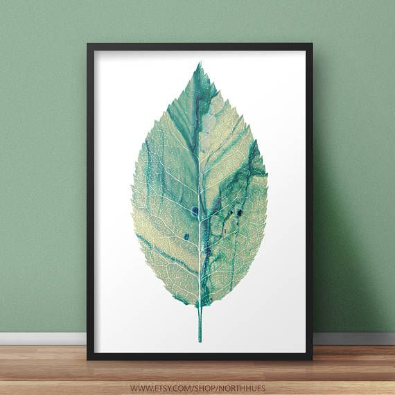 🍃 Leaf Poster - Watercolor look  https://www.etsy.com/no-en/listing/531121683/watercolor-leaf-poster-print-instant