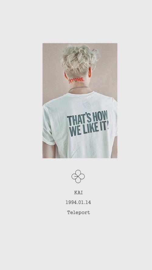Lucky One 카이 / Kai - 김종인 / Kim JongIn EXO | Baekhyun | Chanyeol | Chen | D.O | Sehun | Lay | Suho | Xiumin | Luhan | Kris | Tao