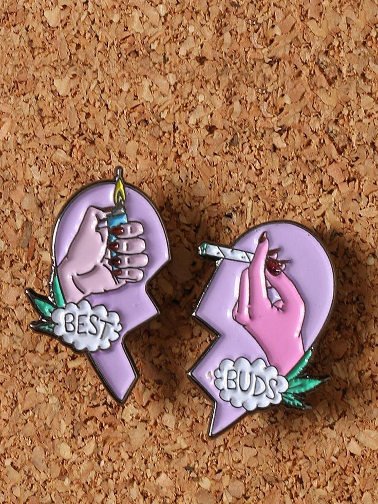 Best Buds Enamel Pin Set -  $12.00 - http://fave.co/1qrNOZM