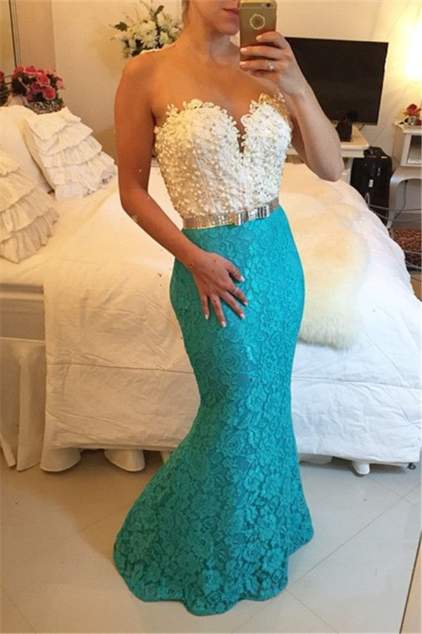 2016 lace mermaid prom dresses_prom dresses for teens_evening dresses long _evening gowns lace