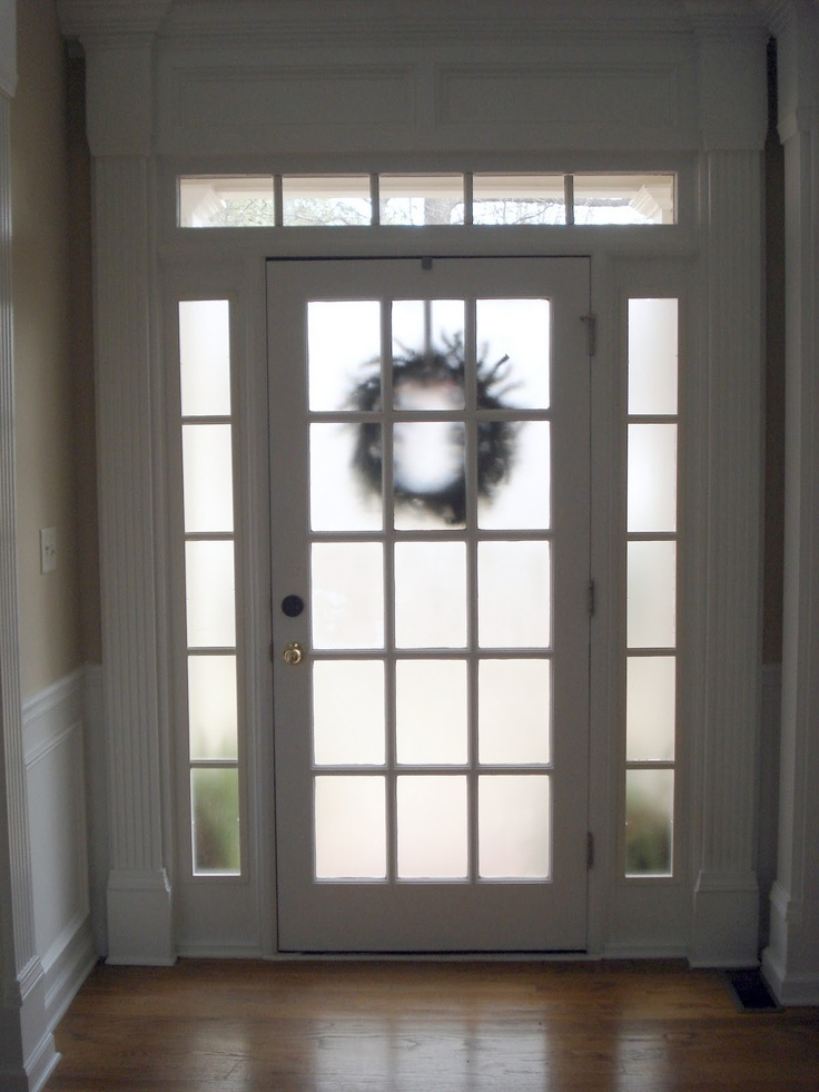 1000 images about frosted front doors on pinterest for Front door glass panels