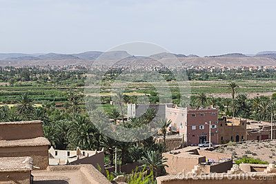 Moroccan village in the deserts and oasis