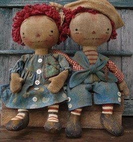 Raggedy Ann and Andy, reminds me of grandma