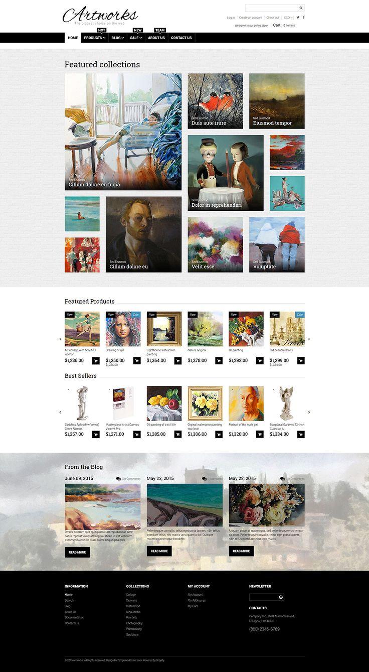 Art web responsive shopify theme 54787 magento themes