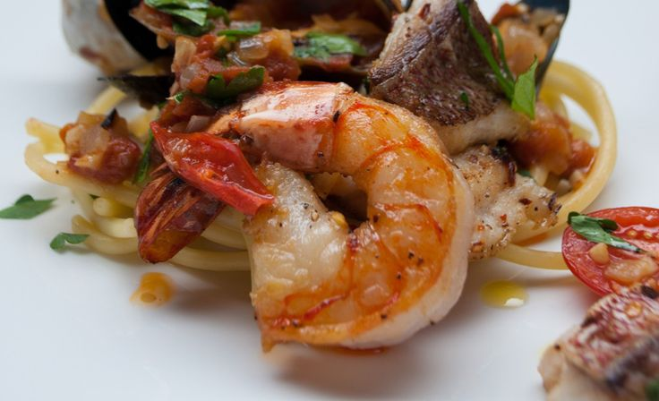 Bucatini with Seafood