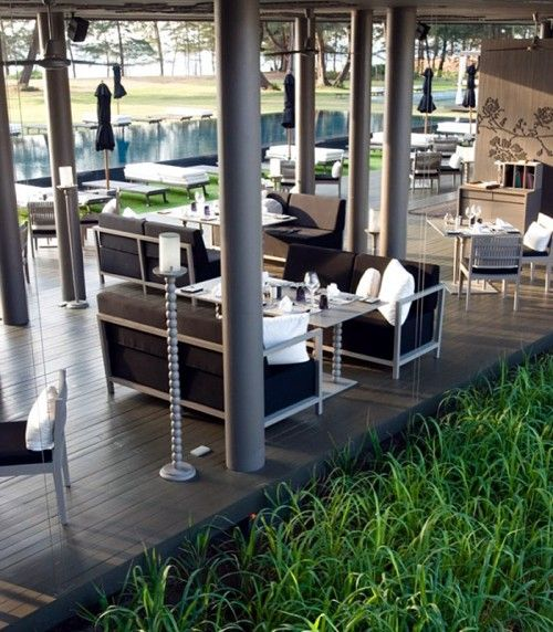 Modern Restaurant Design: Sala Phuket Restaurant - love the open air design - could be gorgeous in denver