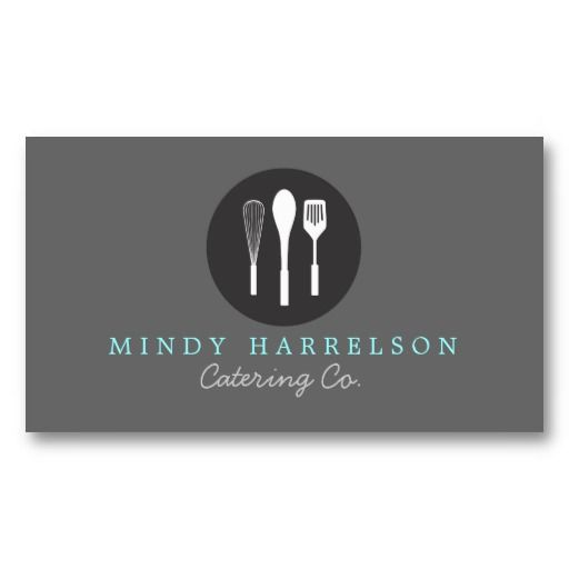 Customizable Business Card for Caterer, Restaurant, Chef