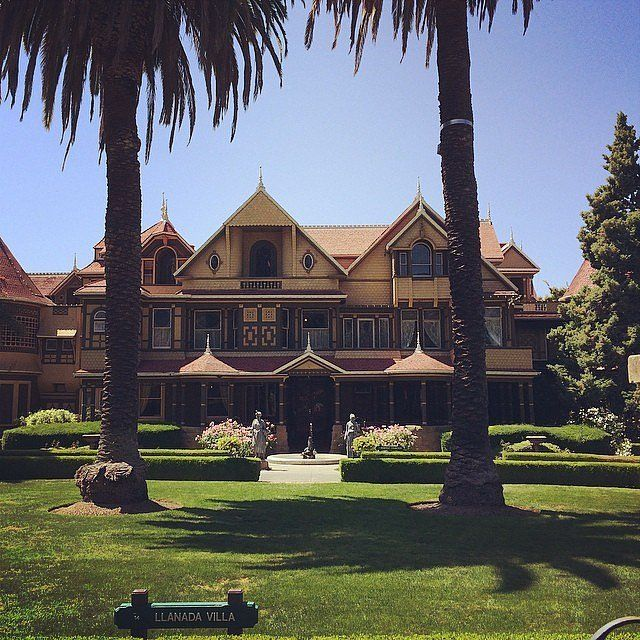 """Sure that she was being haunted by the ghosts of rifle-slain people, Winchester Firearms widow Sarah Winchester fled from Connecticut to build a mansion in San Jose, CA. The Winchester now called """"The Mystery House,"""""""