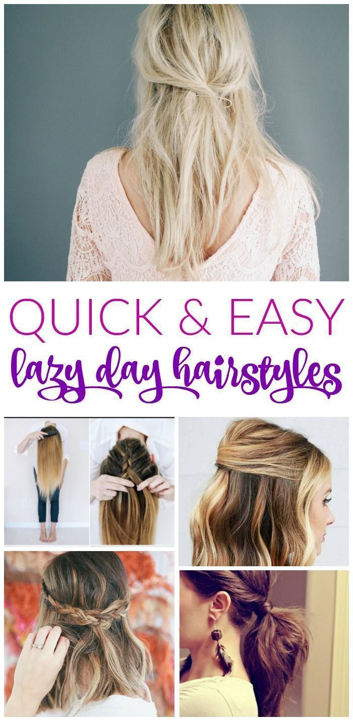 Popular Pins Lazy Day Hairstyles Hair Styles Easy Everyday Hairstyles