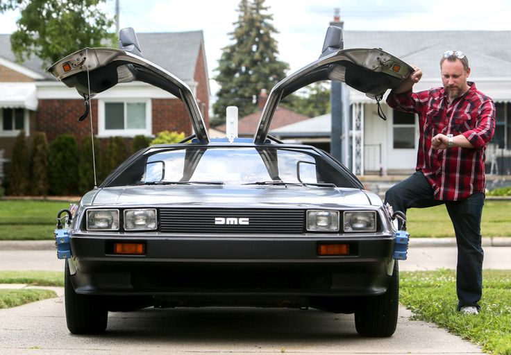 """Roseville resident Mike Bilski, 41, saw the movie """"Back to the Future"""" on the day it opened in 1985, and ever since, he said, he's been obsessed with the DeLorean — the film's"""