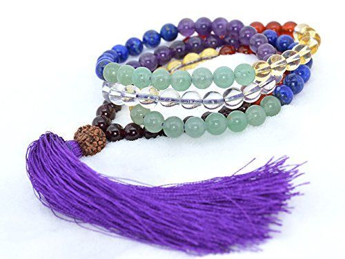 The Art of Cure Healing Tassel Mala Meditation Beads  Garnet agate citrine Aventurine lapis amethyst quartz *** More info could be found at the image url.
