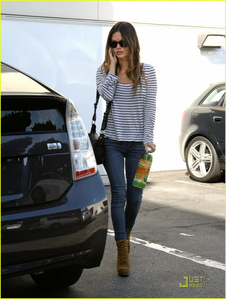 Shirts with horizontal stripes ok...because i love this trend.  have this shirt, but she styles it so well.