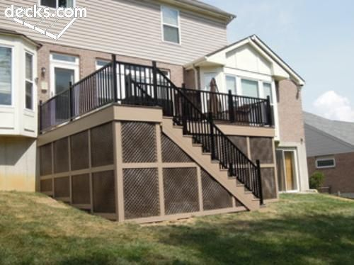 Azek deck w skirting home ideas pinterest decks for Balcony storage