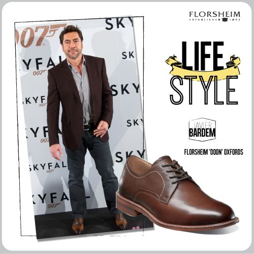 Javier Bardem Florsheim shoes