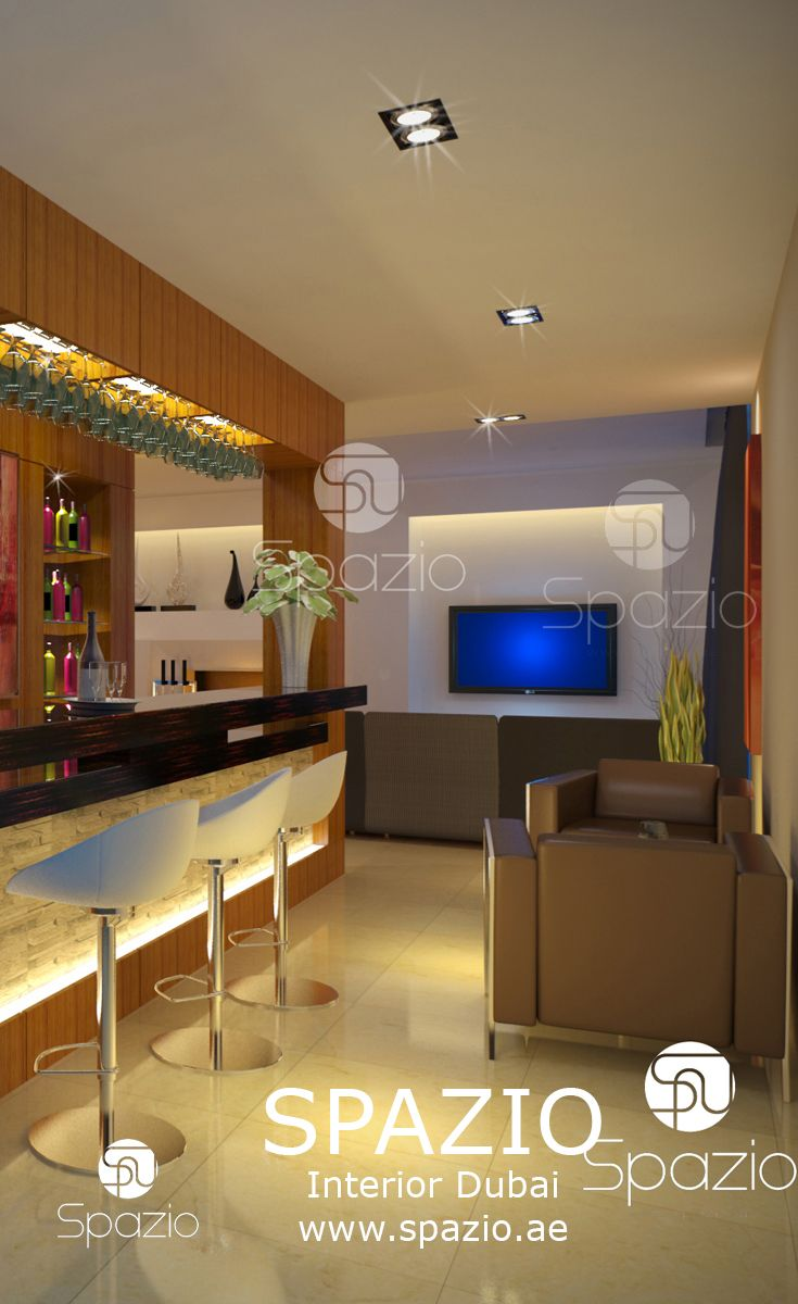 The Interior Design And Decor For Luxury Bar Spaces In A Residential Villa  House. Get