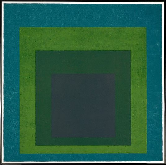 Homage to the Square: Soft Spoken Josef Albers (American (born Germany), Bottrop 1888–1976 New Haven, Connecticut) Date: 1969 Medium: Oil on Masonite Dimensions: 48 x 48 in. (121.9 x 121.9 cm) Classification: Paintings