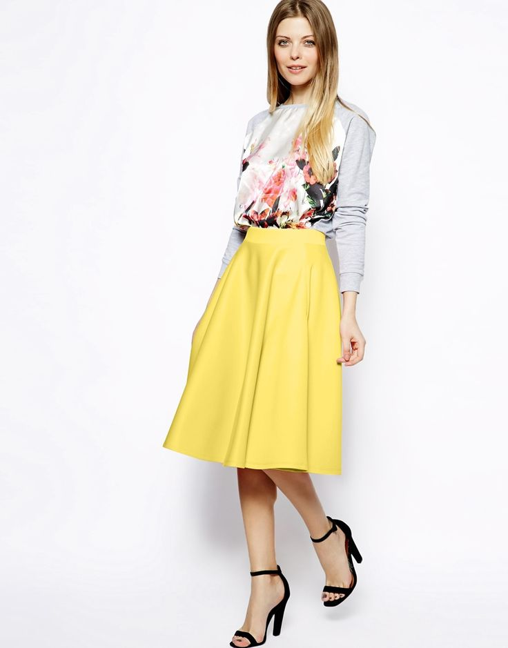 16 best images about Yellow Skirt on Pinterest | Full skirts, Neon ...