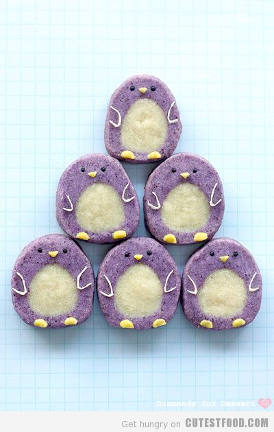Penguin ice cookies. dont forget the cupcake ice cream cones