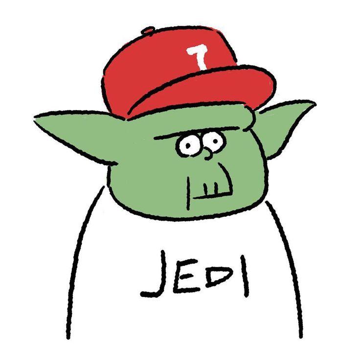 Yoda #yoda #jedi #starwars #episode7 #maytheforcebewithyou #theforceawakens #seijimatsumoto #松本誠次 #art #drawing #illustration #illustrator #movie #イラスト #スターウォーズ #映画 #ヨーダ