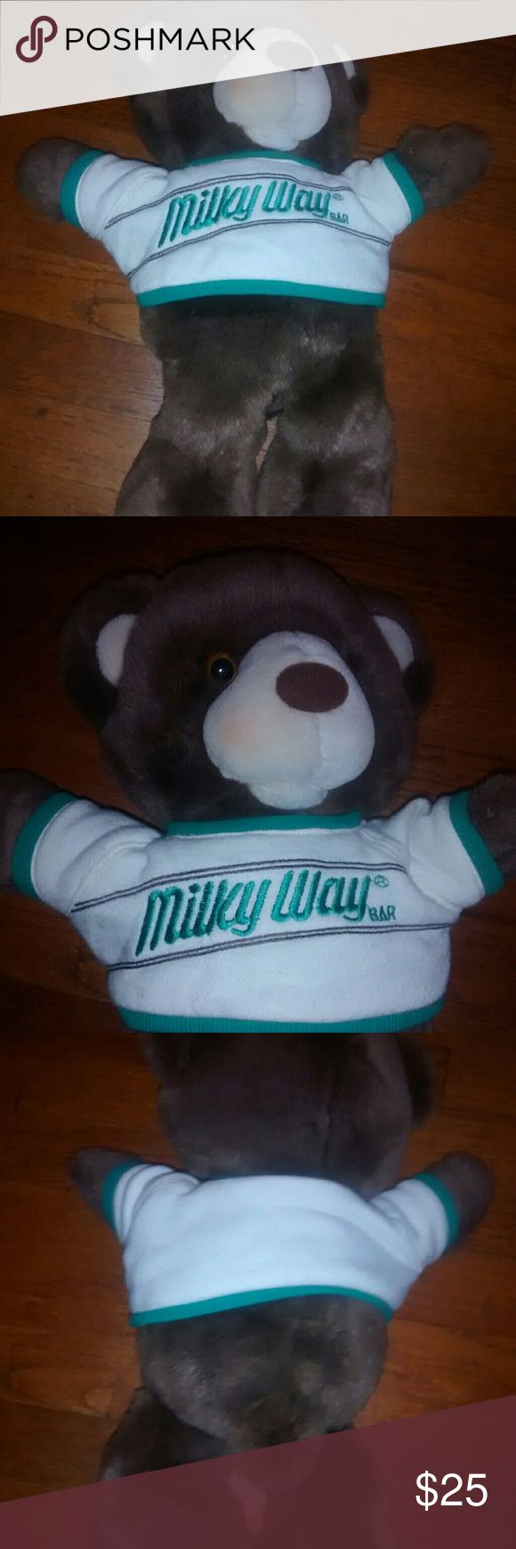 Vintage 1987 Milky Way Teddy Bear Beautiful Condition Well kept No tags Mars Company milky way Other