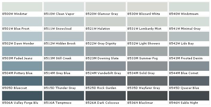 Blue Gray Color duron paints - duron paint colors - duron wall coverings - house