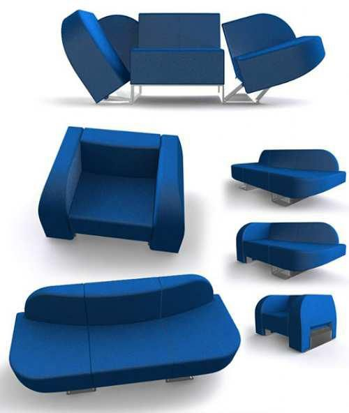Designer Roel Verhagen Kaptein Describes His Transforming Chair/sofa  Creation As A Solution For Limited Livi. Awesome Design