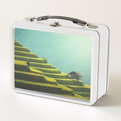 #China agriculture rice harvest metal lunch box - #country gifts style diy gift ideas