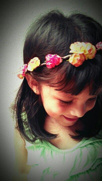 tiara flores de Cualquiera