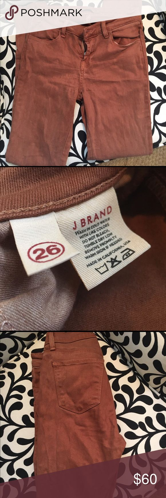 J brand size 26 brown skinny jeans Lightly worn brown skinny jeans. Size 26 J Brand Jeans Skinny