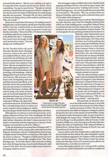 Lauren Davis's Wedding, As Featured in Vogue US March 2008   POPSUGAR Celebrity