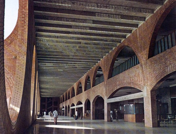 National Assembly in Dacca, Bangladesh, India. 1962. Louis Kahn