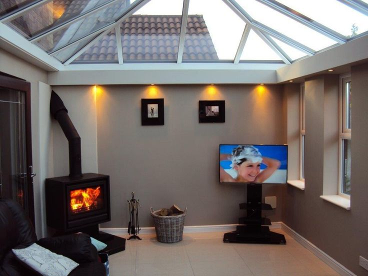 Contemporary Conservatory / Orangery - Creating a Cosy Corner complete with Log Burner