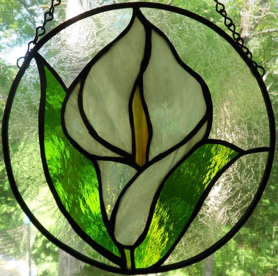 Stained Glass Calla Lily